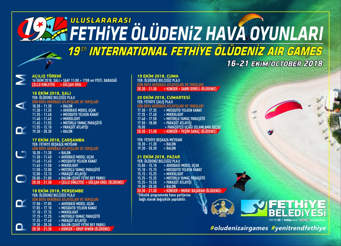 Ölüdeniz Air Games Programme of Events