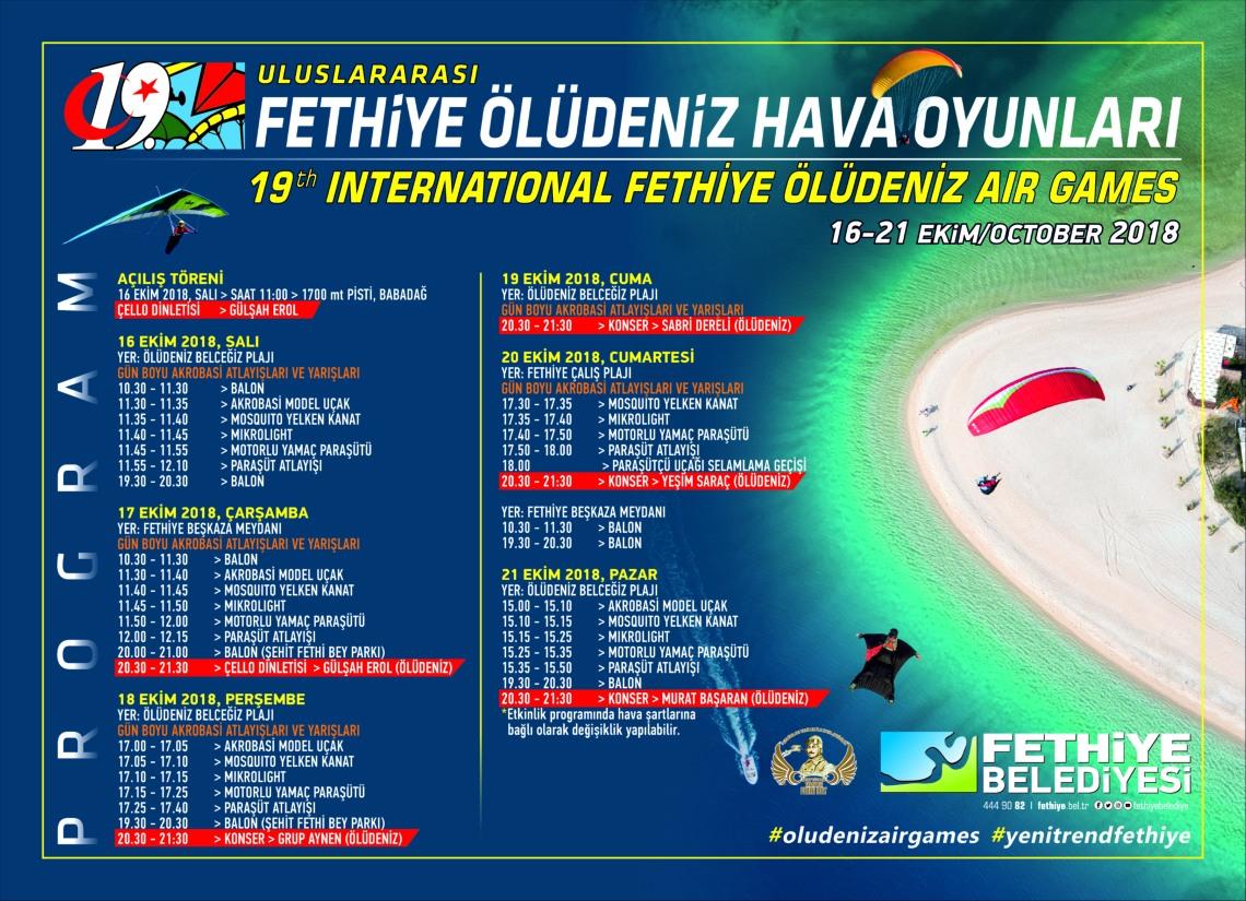 Ölüdeniz Air Games Programme of Events