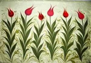 Turkish Marbling Floral Design